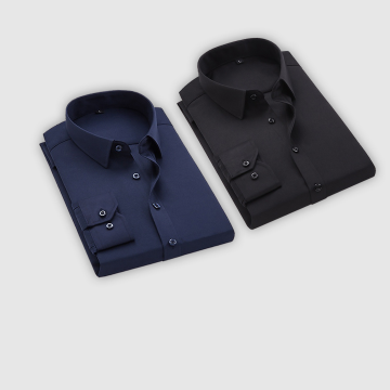 Combo Of 2 Men's Casual Shirts (Black, Dark Blue)