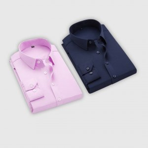 Combo Of 2 Men's Casual Shirts (Dark Blue, Pink)