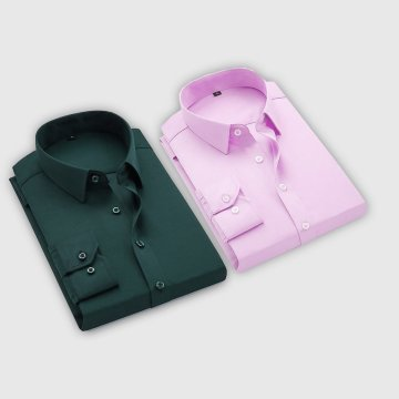 Combo Of 2 Men's Casual Shirts (Pink, Bottle Green)