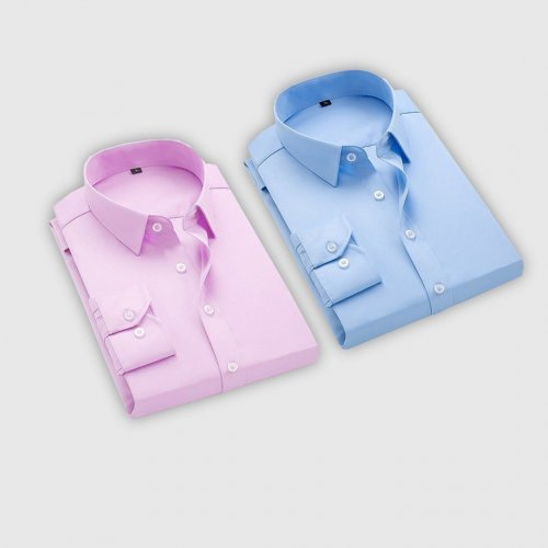 Combo Of 2 Men's Casual Shirts (Sky Blue, Pink)