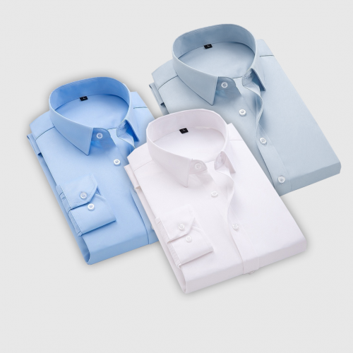 Combo Of 3 Men's Casual Shirts (Ice blue, white, Sky blue)