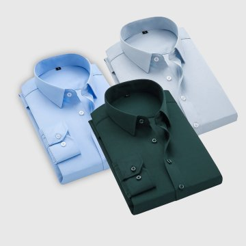 Combo Of 3 Men's Casual Shirts (Ice Blue, Bottle Green, Sky Blue)